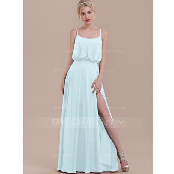 510853c2b4 Maxi Square Neckline Bridesmaid dress in Mist